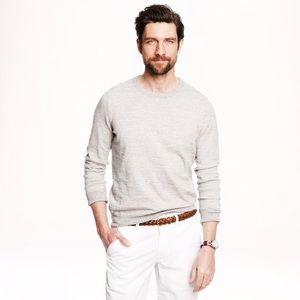 Men's J. Crew Heathered Cotton Sweater A2197 - S